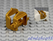 LEGO - Pearl Gold Saddle w/ 2 Clips for Horse Cow or Camel Animal Castle