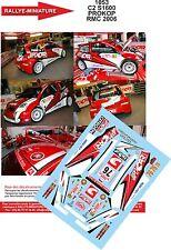 Decals  1/24 réf 1053  CITROEN C2 S1600 PROKOP  RALLYE MONTE CARLO 2006