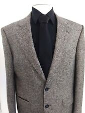TOWN CRAFT MEN'S BLAZER JACKET Metallic Titanium Fleck Herringbone SZ 44R Coat