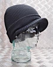 Black Peak / Peaked Beanie Hat / Jeep Cap - One size - BRAND NEW