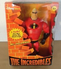 "Disney Pixar The Incredible Talking Mr. Incredible 12"" tall figure Disney Store"