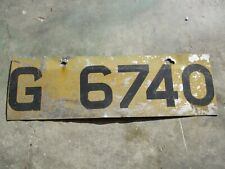 Antigua older Gov.  license plate #  G 6740