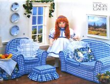 "Vogue 9504 18"" Girl Doll Living Room Sofa Furniture Toy by Linda Carr - Uncut"