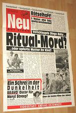 Sonderblatt Ein schrei in der dunkelheit Filmplakat / Poster A1 ca.60x84cm