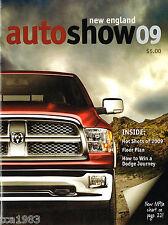 2009 New England N.E. AUTO SHOW Program w/ MPG Guide,Floor Plan; CAMARO,MERCEDES
