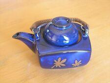 "Vintage Lidded Japanese / Chinese Tea Pot Yixing Flamble Glaze Blue  5 1/2"""