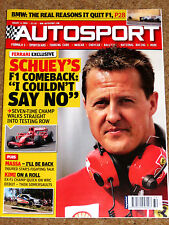 Autosport 6/8/2009* SCHUMACHER RETURNS - WHY BMW QUIT F1 - WRC FINLAND