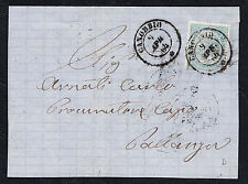 STORIA POSTALE Regno 1864 Frontespizio 15c da Canobbio per Pallanza (FB5)