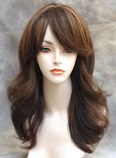 Human Hair Blend Wig HEAT SAFE Soft Wavy Layered Blonde mix ST 4-27-30