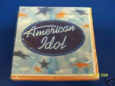RARE American Idol Rock Pop Star FOX TV Show Watching Party Beverage Napkins