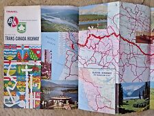 VINTAGE PICTORIAL MAP ALONG THE TRANS - CANADA HIGHWAY QUEBEC CITY ORILLIA