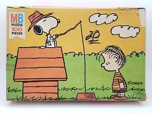 Peanuts Puzzle 100 Pieces (4382-8) Milton Bradley 1978