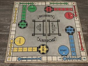 SORRY! Vintage 1939 Parker Brothers Board Game Replacement *BOARD ONLY*