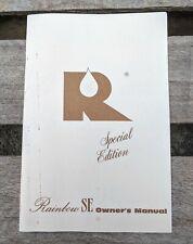 Vintage Rainbow Vacuum SE Vacuum Cleaner Owners Manual