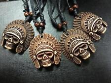 wholesale lots 12pcs vintage tribe chief skull head TIBET pendants