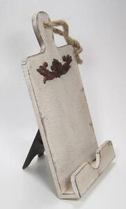 Small Paddle Board Wood Book Holder Easel Antique Style Wall Hanging Decor