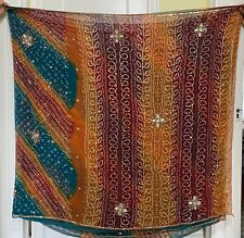 Preowned Bandhani Saree With Blouse, Very Good Condition, Fabric 5yards