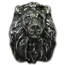 5 oz Silver Bar - 3D Lion Head - SKU #92306