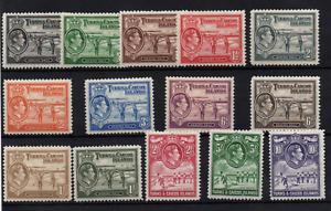 Turks & Caicos 1938 KGV mint LHM set SG194-205 WS22278