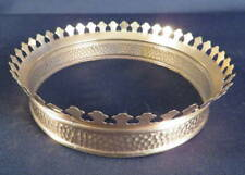 1880's Parker Fancy Brass Shade Crown for Hanging Library Lamp Frame
