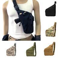 Mens Tactical Military Messenger Shoulder Bag Sling Waterproof Chest Bag Outdoor