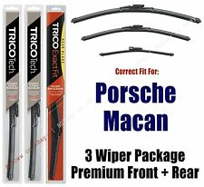 Premium Wipers 3-Pack Front Rear fit 2015+ Porsche Macan - 19240/200/15i