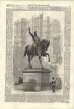 1861 Colossal Statue Of Richard The Lionheart Baron Marochetti, Westminster