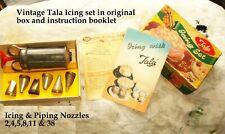 vintage Tala cake decorating icing set Syringe ,various nozzles & original box