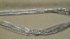 10 SILVER BOX CHAIN NECKLACES