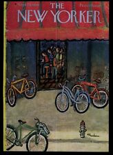New Yorker magazine framing cover September 25 1954 bikes at malt shop