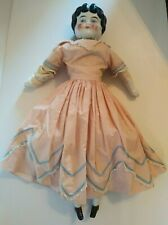 Antique China Head Doll Original Body 19 Inch Circa Late 1800's Early 1900's