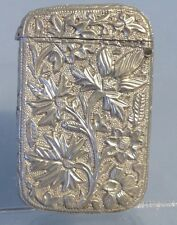 Antique Silver Vesta, Floreale CAST ORNATA pianta tropicale Design sudamericano.