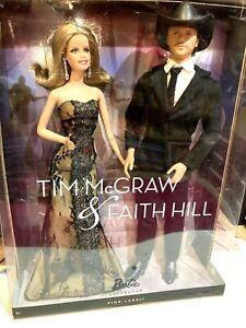 Tim McGraw & Faith Hill Ken & Barbie Set. NRFB. Pink Label.2011. 🌹 NEW!