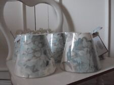 **CANDLE LAMPSHADES** LAURA ASHLEY HYDRANGEA DUCK EGG FRENCH COUNTRY STYLE CHIC