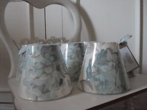 **CANDLE LAMPSHADES** LAURA ASHLEY HYDRANGEA DUCK EGG FRENCH COUNTRY STYLE CH
