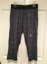 adidas Techfit Climalite Yoga Athletic Work Out Pants Women's Size Small Gray