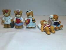 Vintage Lucy & Me Bears-Enesco-Five Different Medical Bears-excellent condition