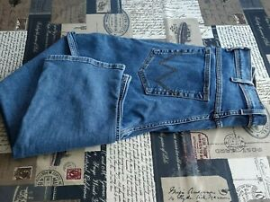 WRANGLER Texas 1947 Mens Mid Blue jeans 34W 34L Regular Classic Casual