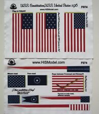 Revell USS Constitution, United States - Flags and Draft scales for model, 1:96