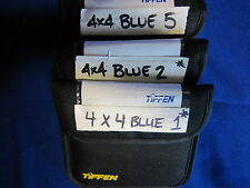 TIFFEN 4x4  FILTER  BLUE  1, 2, 5  (USED)  (LOT OF 3)