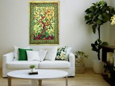 Indian Mandala Tree Of Life Cotton Poster Wall Hanging Hippie Ethnic Home Decor