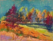 ORIGINAL Tree LANDSCAPE Pastel Painting JMW art John Williams Expressionism