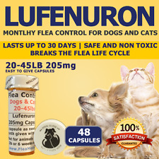 """Flea Control for Dogs 20-45lbs """"48 Month"""" 205mg Flea Control Capsules"""