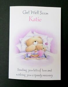 Handmade Personalised Get Well Soon Card - Any Name