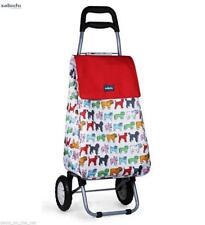 Sabichi Pug 2 Wheel Shopping Trolley Travel Luggage Outdoor Lightweight