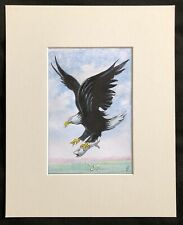 """On The Hunt original mounted watercolour painting 10""""x8"""" G.Burgess Cornwall"""