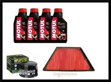 Kit tagliando kawasaki  ZZR 1400 06 13 olio MOTUL 7100 10w40 filtro aria olio