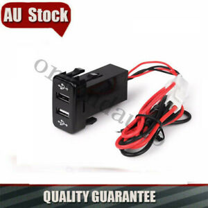 For Toyota HILUX III Kun26 3.0 TD 4.0 2005-2015 Dual USB Charger Switch Design