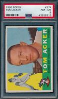1960 Topps Set Break # 274 Tom Acker PSA 8 NM-MINT *OBGcards*
