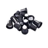 US Stock 20pcs Hi-Fi CD Volume Tone Control Potentiometer Knob 6mm Black White